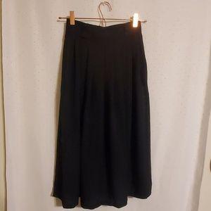 Vintage | Black Midi Skirt